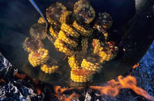 Seared Corn Wheels with Indonesian Kecap